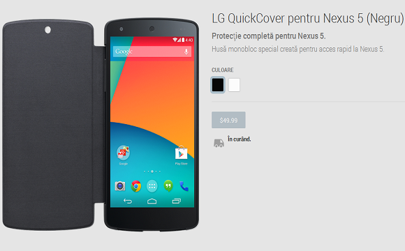 Husa QuickCover Nexus 5