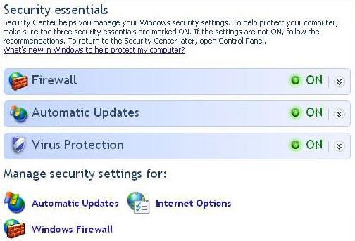 setari securitate windows xp